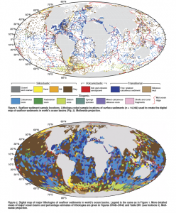Seabed geological map
