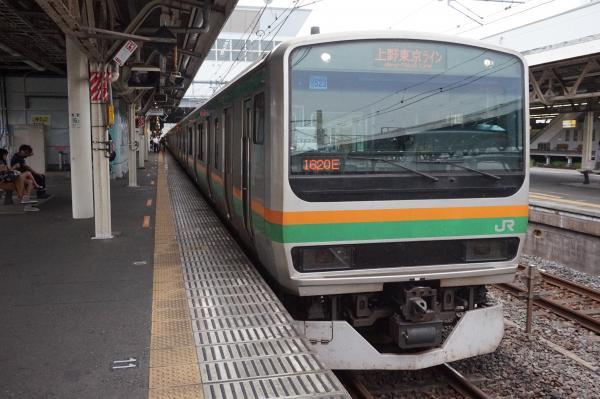 2015-08-12 E231系ヤマU523編成 上野東京ライン宇都宮行き