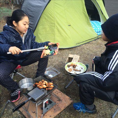板ヶ原オートキャンプ場 朝食