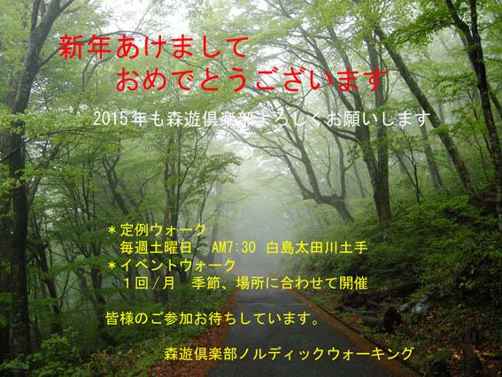 2015森遊倶楽部年賀