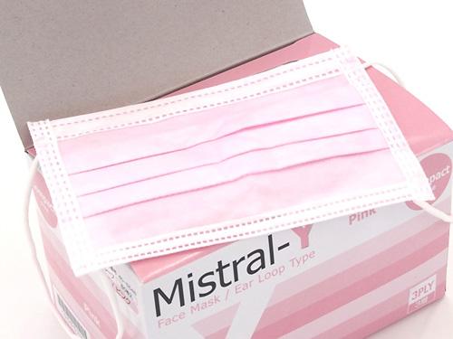 ミストラル3層マスク コンパクト・ピンク
