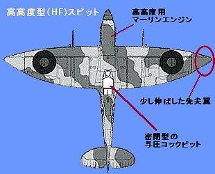 先尖翼スピットファイアー高高度型