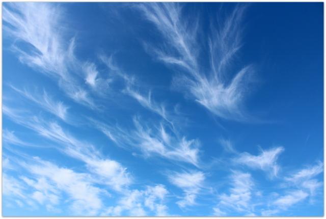 自然 巻雲 けんうん 雲 写真