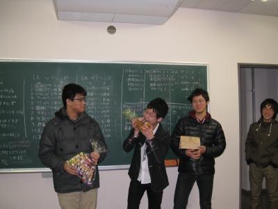 筑波大交流会2015 入賞者