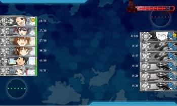 E-1-Z夜戦1戦目終了