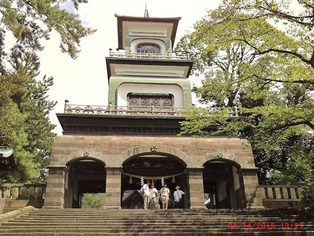 尾山神社入り口