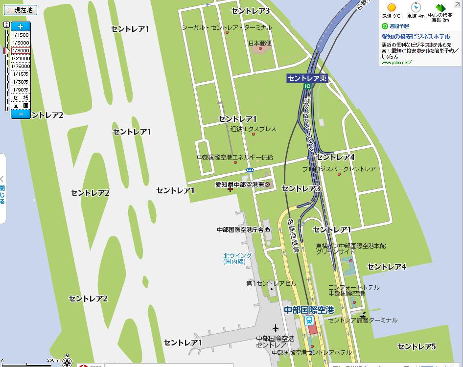 愛知県セントレア市の地図