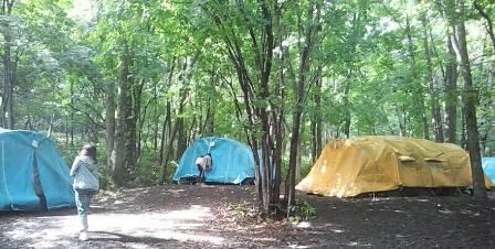テントにお泊まり