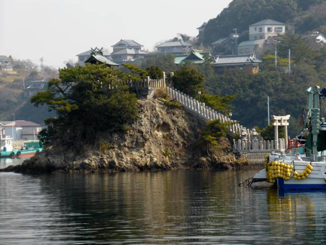 家島の港町風景1