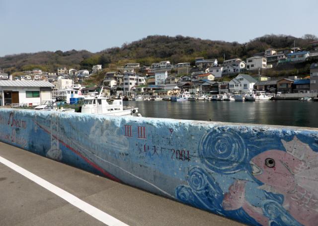 家島の港町風景0