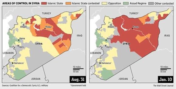 イスラム国領土の急拡大