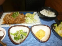 生姜焼き定食150809