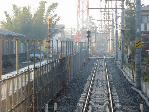 梅郷→野田市の前面展望。左側が旧本線。