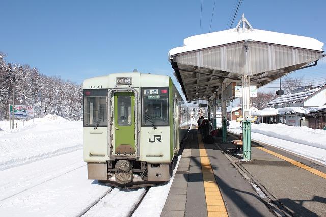 ⑦飯山駅到着
