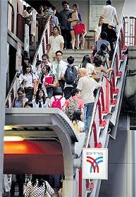 BTS駅のバリアフリー化画像