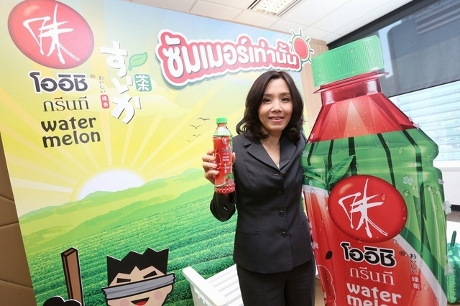 タイのOISHIからスイカ味緑茶画像