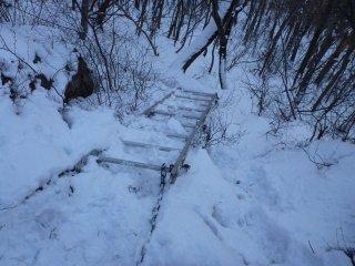 s04雪のハシゴ場