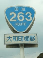 国道263号の標識