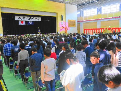 「石岡市立東小学校」入学式①
