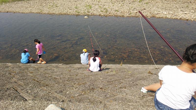 犀川に 釣りのようなことをしました