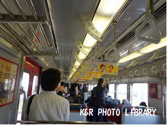 3月21日久留米往き電車車内