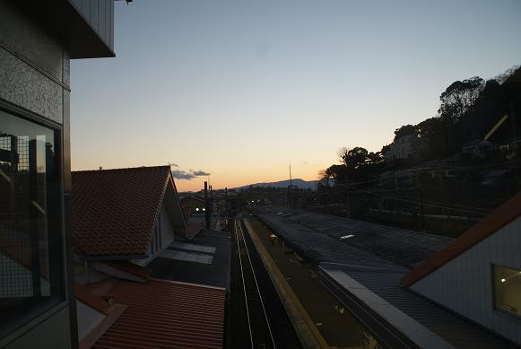駅からの夕景