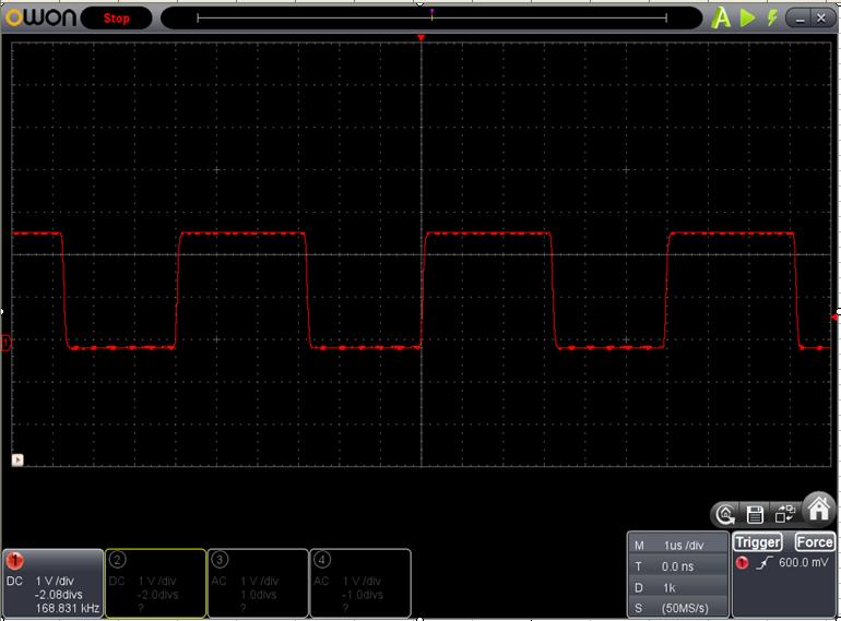 TX2とRX2を換装したときのFoscの調整波形1