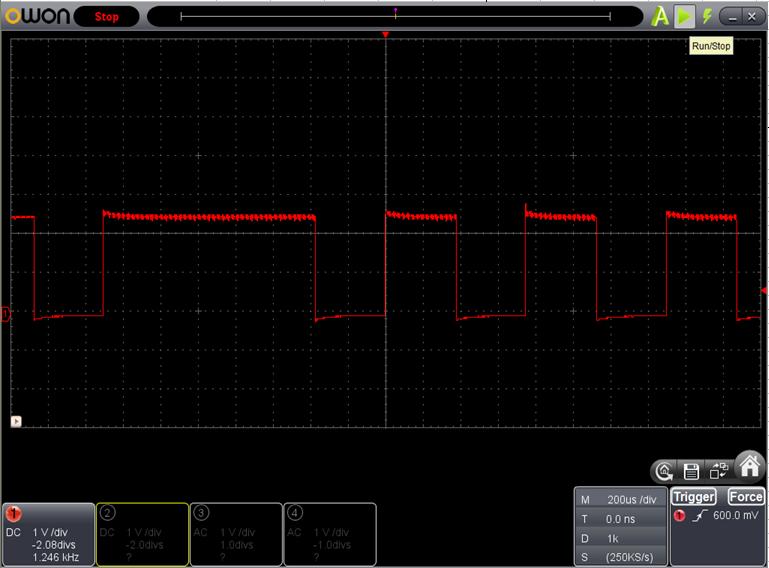 TX2とRX2を換装したときのFoscの調整波形2