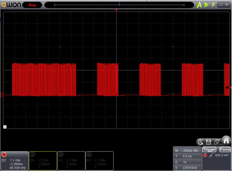 TX2とRX2を換装したときのFoscの調整波形3