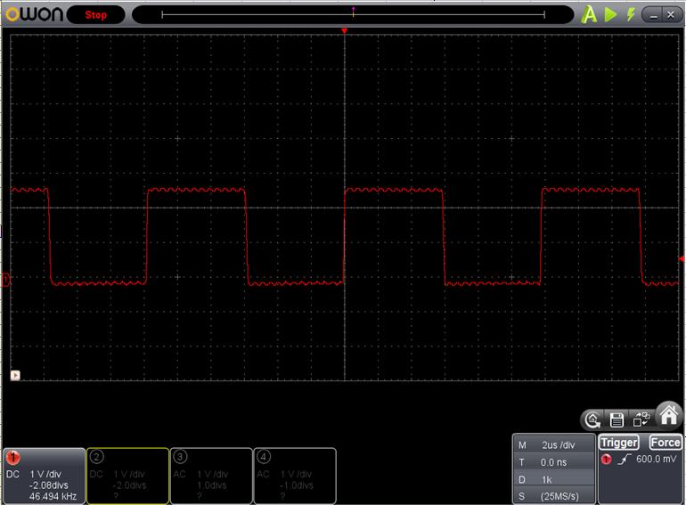 TX2とRX2を換装したときのFoscの調整波形4