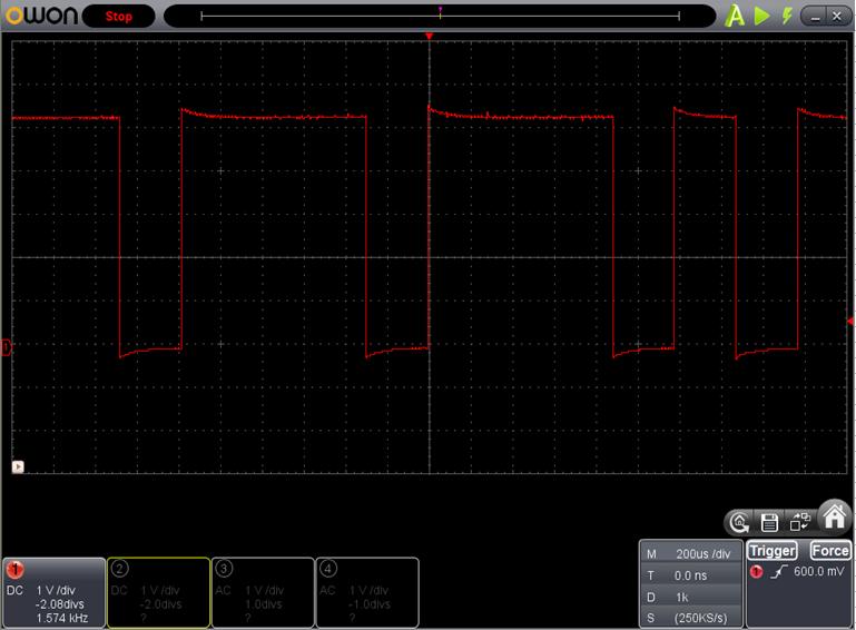 TX2とRX2を換装したときのFoscの調整波形6
