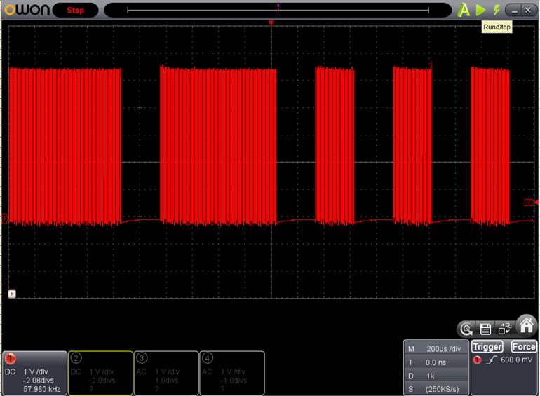 TX2とRX2を換装したときのFoscの調整波形7