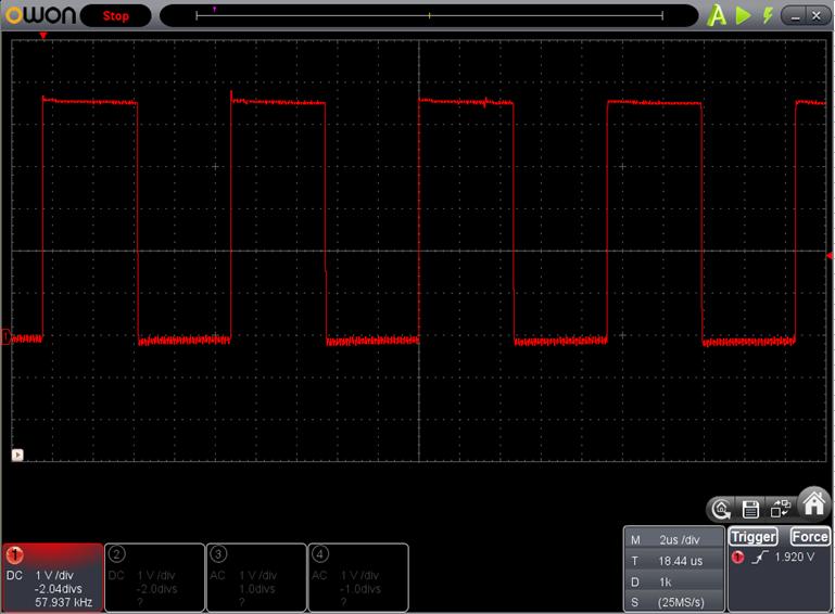 TX2とRX2を換装したときのFoscの調整波形8