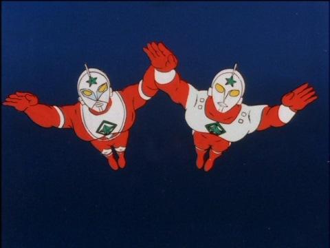 地球の危機に駆け付けた、ロト(左)とエレク(右)