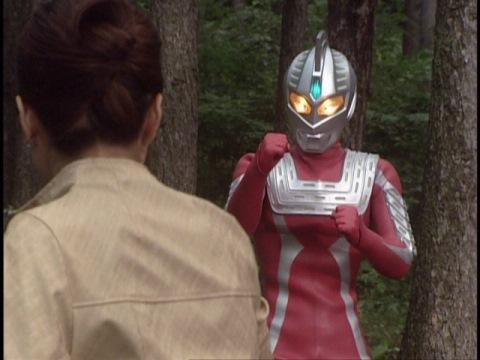 オオトモ博士(ザム星人)と対峙するウルトラセブン21