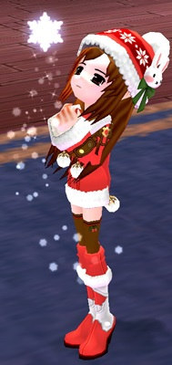 サンタ クリスマスボンボンニット帽 染色 4