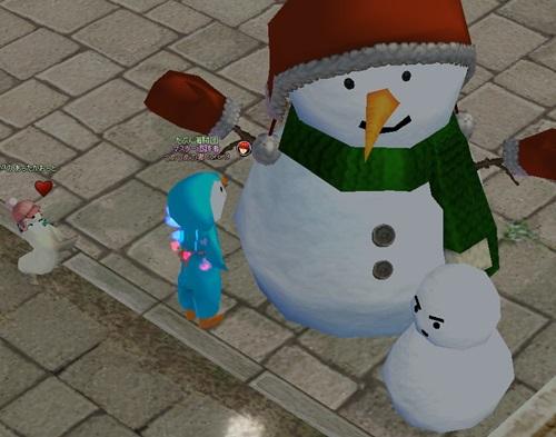 雪だるま クリスマスおっとせい あったかおっと 2