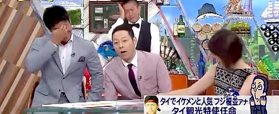 ワイドナショー画像 東野幸治「榎並大二郎アナは声が全部下に落ちる」 2015年8月16日