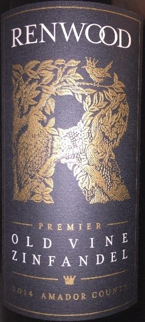 Old Vine Zinfandel Premier Renwood 2014
