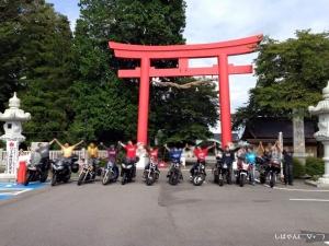 バイク神社集合写真