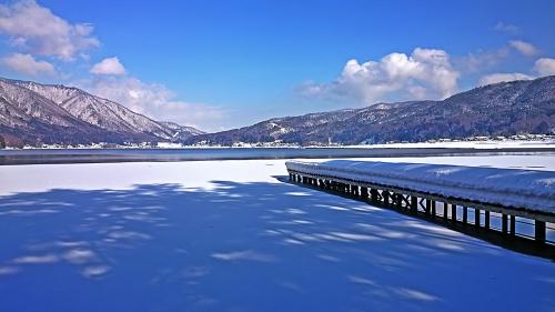 冬の木崎湖1