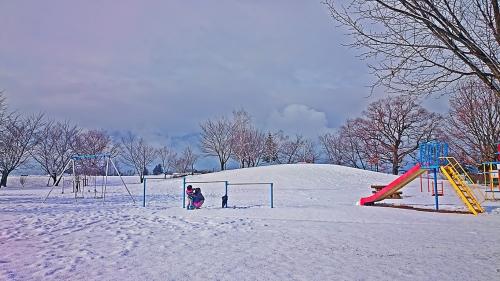 かじかの里公園の雪景色