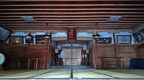 須々岐水神社の社殿内