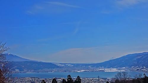 塩尻峠から見た諏訪湖