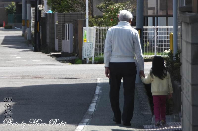 おじいちゃんと散歩 愛媛県西条市神拝