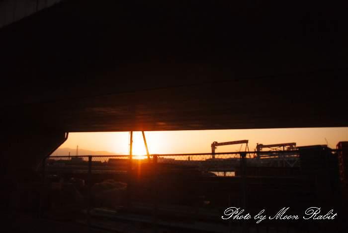 ひうち大橋と落日