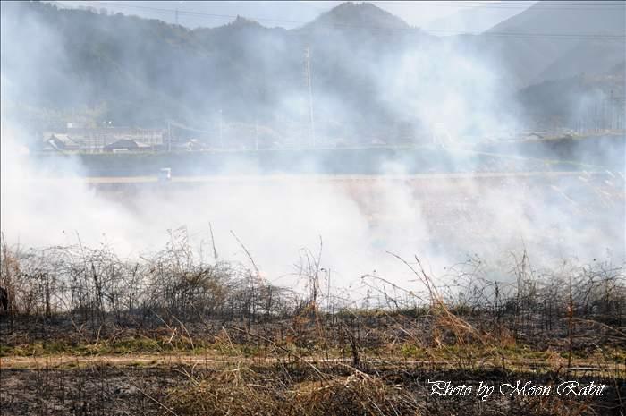消火出動 加茂川鉄橋 愛媛県西条市加茂町