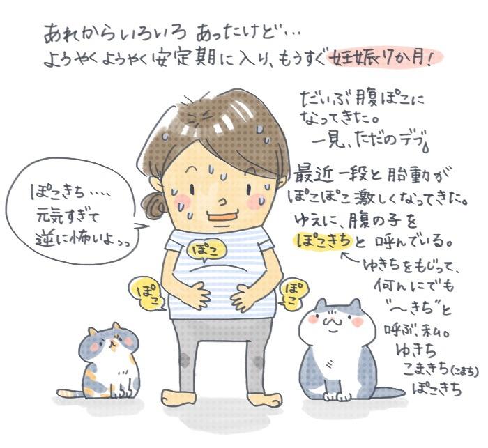 妊婦と猫の生活