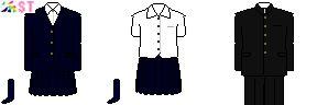 [静岡]静岡県立下田高校・南伊豆分校制服ドット絵