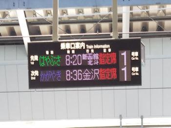 5/1  東北新幹線はやぶさ 時刻掲示板  東京駅